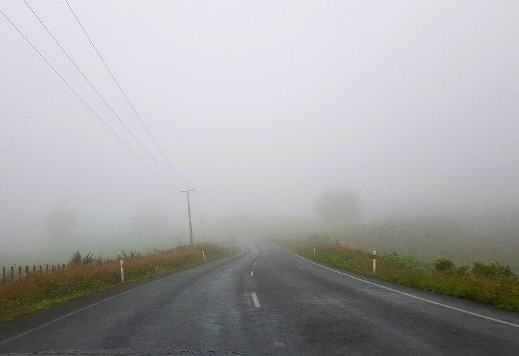 Clouds mist road cloud