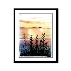 hahei_sunset_4_framed_panel_print