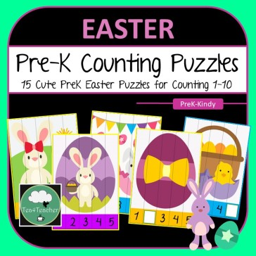 PreK Number Puzzles COVER