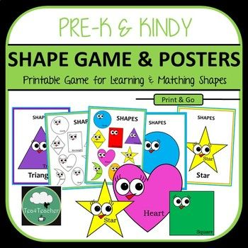 Shapes Game & Posters