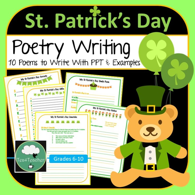 St Patricks Day Poetry Writing COVER