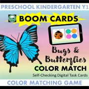 Boom cards bugs matching color game