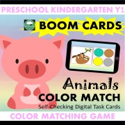Boom Cards Color Match AnimalsCTP cover