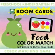 boom cards food game colors