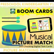 boom cards music instruments matching
