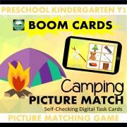 boom cards picture matching camping