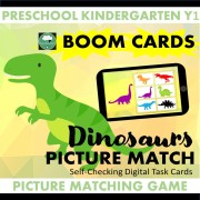 dinosaur picture matching boom cards