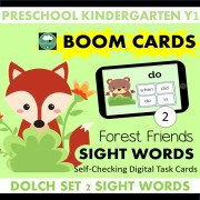 Forest Animals boom cards sight words