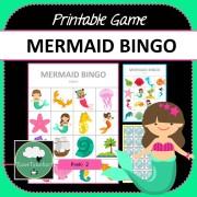 Mermaid Bingo Game COVER