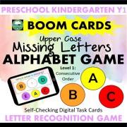 Missing Letters Upper Case Letter Game Boom