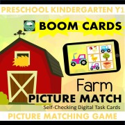 Picture Match Farm game boom cards