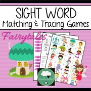 sight word games fairytale sight words