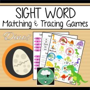 Sight word matching games