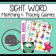 sight word matching sight word tracing