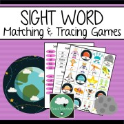 Sight Word Space sight word games sight word matching