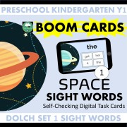 space sight words boom cards