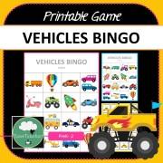Vehicles Bingo Game COVER